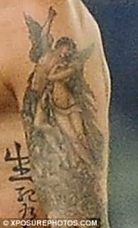beckham cupid tattoo david beckham censors his new renaissance tattoo daily