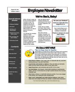 free newsletter templates pdf sle employee newsletter template 9 free documents