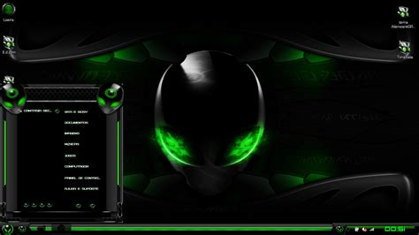 eclipse theme green alienware wallpaper windows 8 1 wallpapersafari