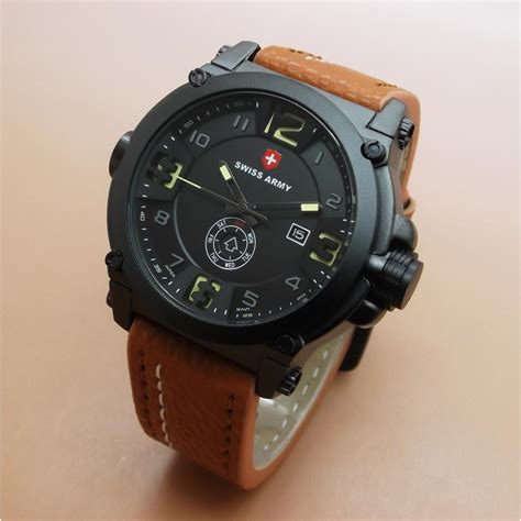 Grosir Jam Swiss Army Sa6030 List Orange Original swiss army original sa3038 jam tangan pria kulit elevenia