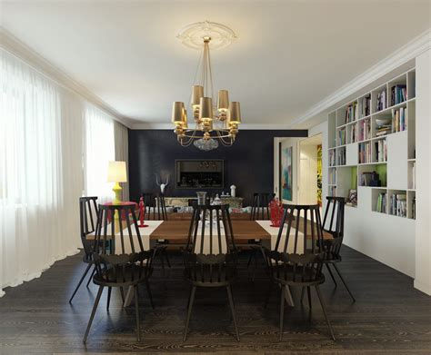 Open Dining Room by Modern Pop Art Style Apartment