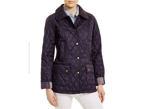 Barbour Quilted Beadnell barbour summer beadnell quilted jacket in blue lyst