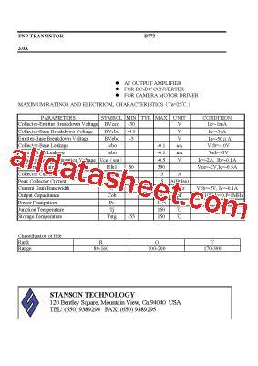 transistor b772 datasheet b772 datasheet pdf stanson technology