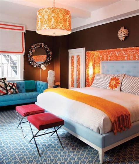 stunning orange bedroom decorating ideas  modern