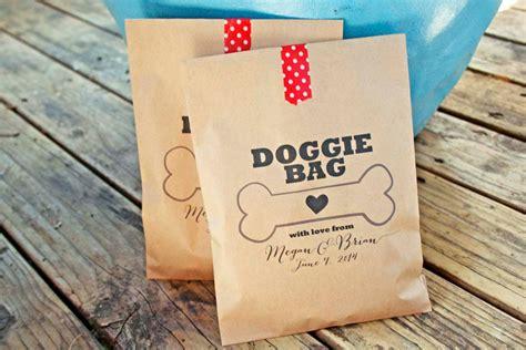 I Doggie Bags by Wedding Favor Bags Doggie Bag Treat Bag Customizable