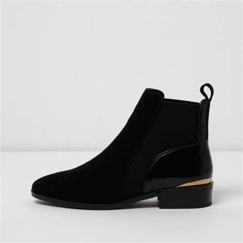 D Island Shoes Boots Black lyst river island black suede chelsea boots in black