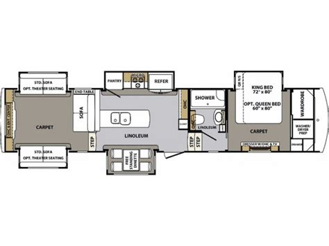 cardinal rv floor plans 2017 cardinal 3950tz fifth wheel by forest river on sale