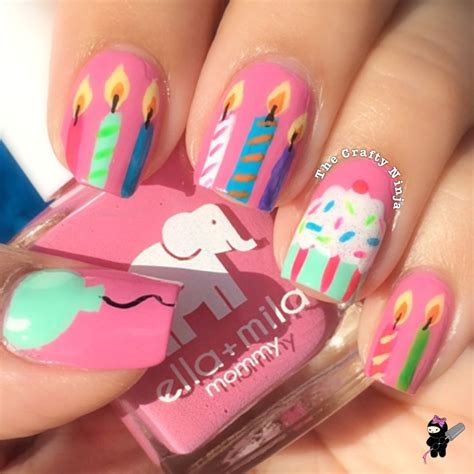 17 best images about nails birthday on birthday nail birthdays and coral cupcakes my birthday nails the crafty
