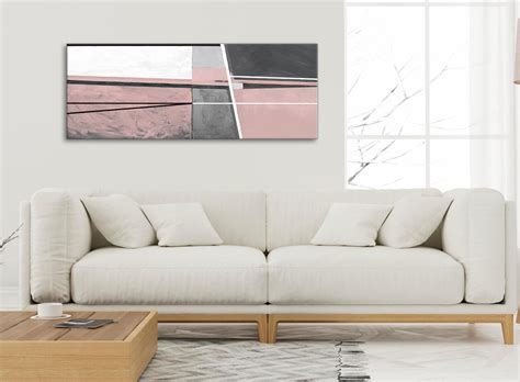 blush pink grey painting living room canvas wall art accessories abstract  cm print