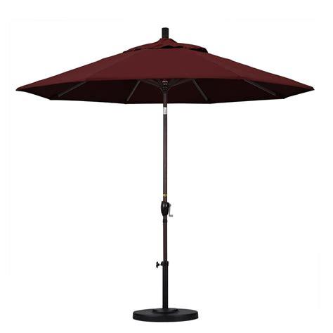 California Umbrella 9 Ft Fiberglass Push Tilt Patio California Umbrella 9 Ft Aluminum Push Tilt Patio