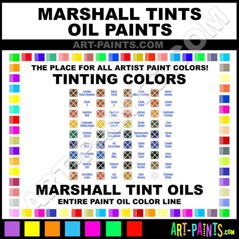 marshall tints paint colors marshall tints paint colors tints color tints oils marshall
