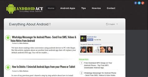 templates blogger android android act download free responsive blogger template