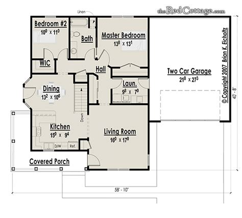 2 bedroom cottage house plans small two bedroom cottage the red cottage floor plans