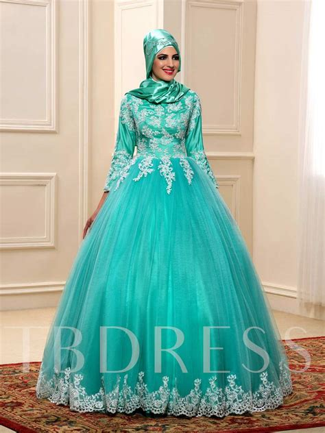 appliques for dresses appliques ball gown muslim wedding dress with hijab