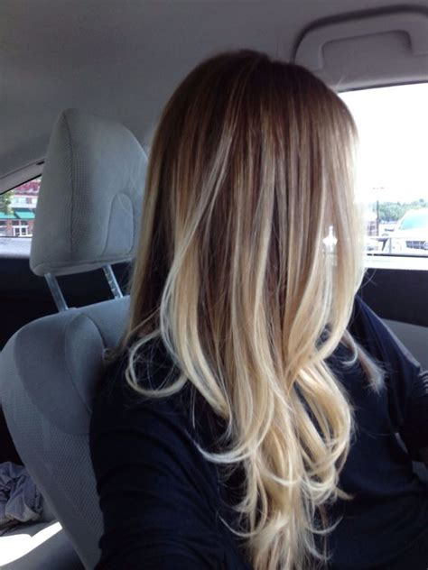 platinum blonde and brown ombre ombre hair color for those of us with light colored hair