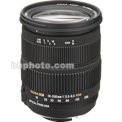 Sigma 18 200 Nikon Used Sigma 18 200 3 5 6 3 Dc Os Nikon Af 888 306 B H Photo