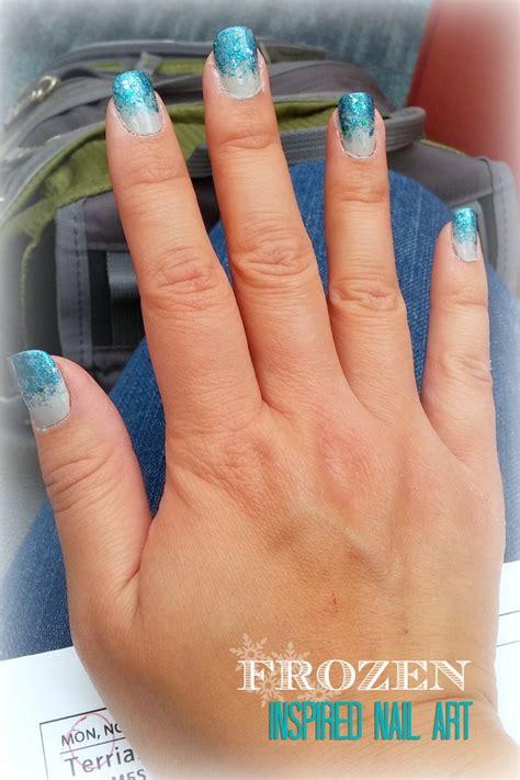 tutorial nail art frozen disney frozen movie inspired nail art design 6 step