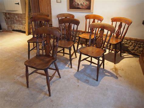 Cloverleaf Home Interiors Chairs 8 Fiddle Back Elm C1880 Antiques Atlas