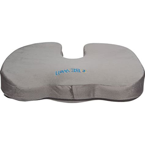 Piriformis Pillow by Brimma Orthopedic Coccyx Memory Foam Seat Cushion Gray