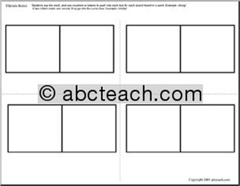 elkonin boxes template 18 best images of elkonin box worksheets kindergarten