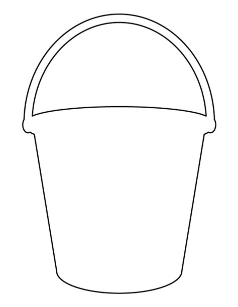 beach pail coloring coloring pages