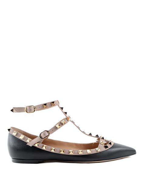 Flats Shoes Valentino 266 4 rockstud leather flats by valentino garavani flat shoes ikrix