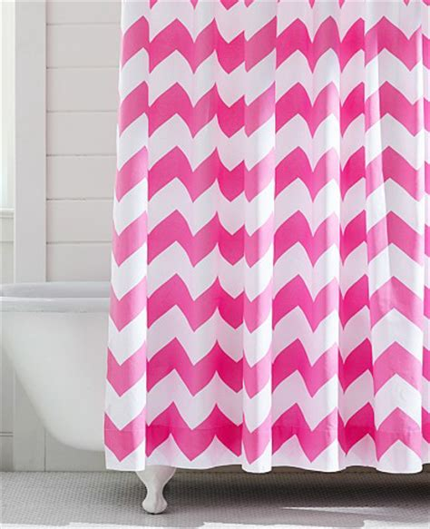 pink chevron shower curtain pink shower curtains decor by color