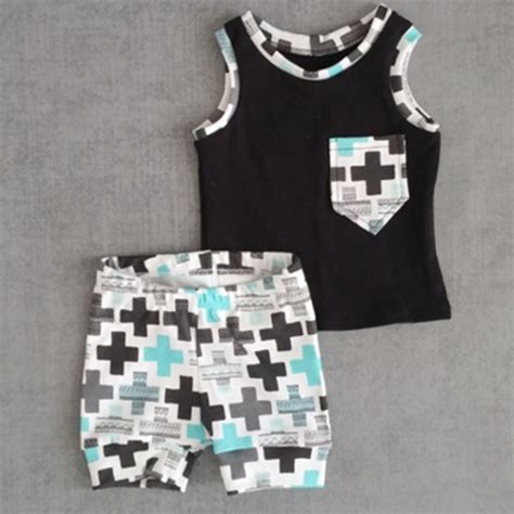 2016 nununu clothing set t shirt shorts 2pcs for baby