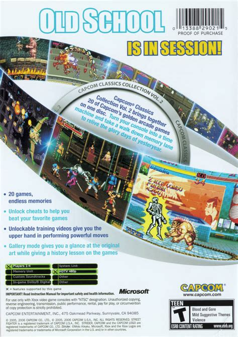 classic collection volume 2 capcom classics collection volume 2 box shot for xbox gamefaqs