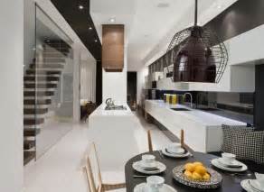 modern house interior in white and black theme trinity