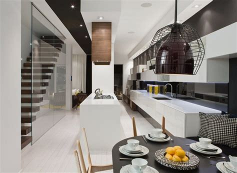 Modern House Interior in White and Black Theme ? Trinity