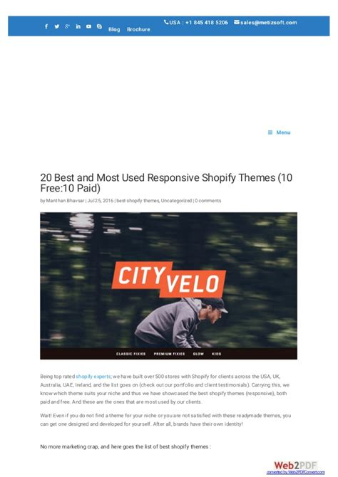 shopify themes uk 20 best and most used responsive shopify themes 10 free
