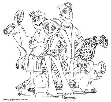 coloring pages of wild kratts free coloring pages of wild wild kratts