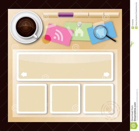 house design template web site design template coffee house theme vector illustration cartoondealer com