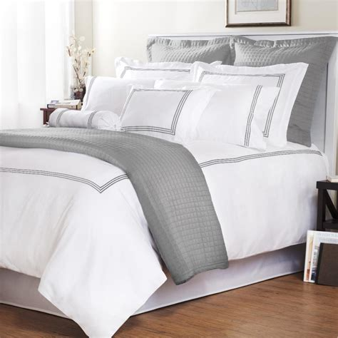 overstock bed platinum stripe baratto stitch full queen size 3 piece
