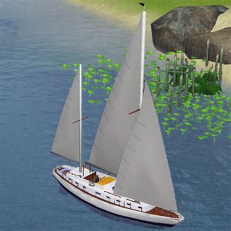 two masted boat mod the sims two masted sailboat for caw