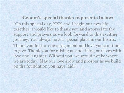 thank you letter after wedding for parents a message from the and groom to their parents