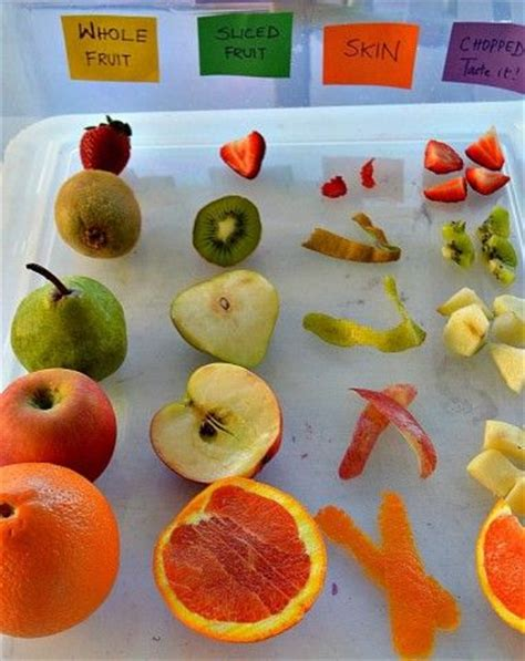 fruit 4 childcare fruits sensory experience sight taste smell touch