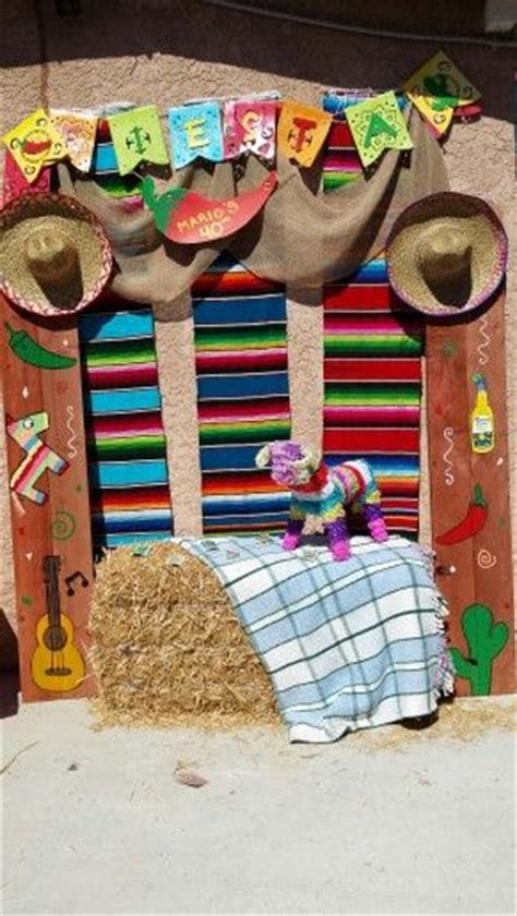 mi themes create mexican fiesta photo booth area mario s 40th fiesta
