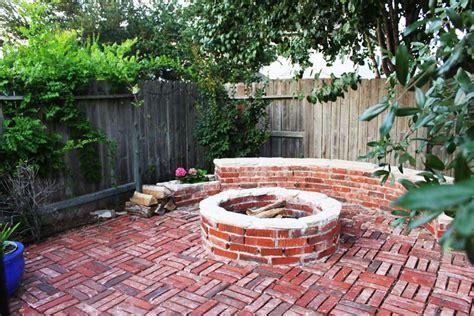 brick patio with pit brick pit ideas pits