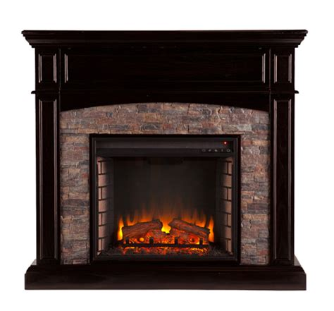 45 5 quot grantham faux corner electric media fireplace