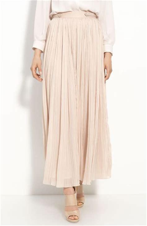 light pink pleated skirt mcginn pleated maxi skirt in pink light pink lyst