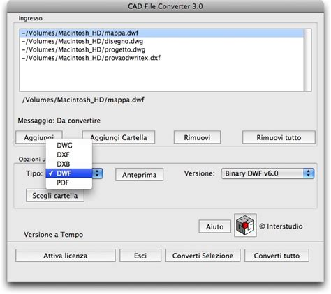 dwg format converter cad file converter dwg dxf pdf converti vedi e sta