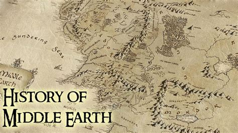 lord of the rings middle earth map the hobbit home decor history of middle earth lord of the rings youtube