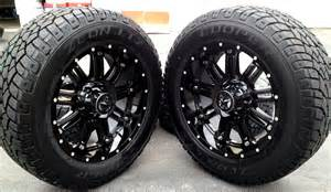 20 In Truck Wheels 20 Quot Black Wheels Tires Dodge Truck Ram 1500 20x9 Gloss