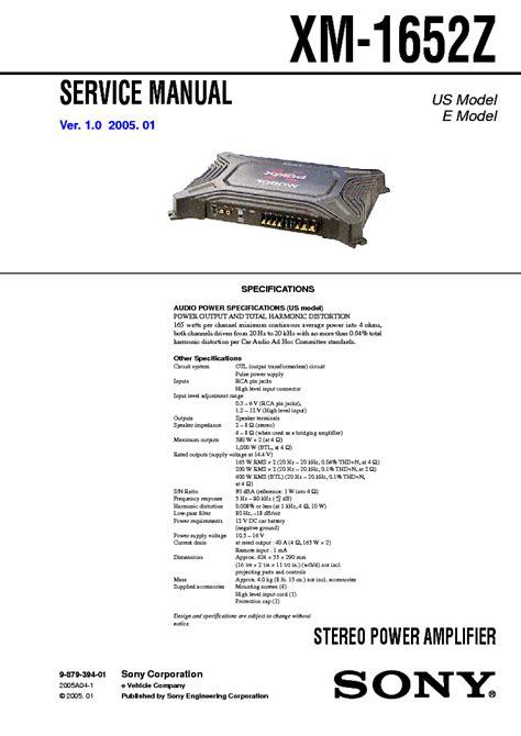 Sony Xm 1652z Service Manual Free Download Schematics