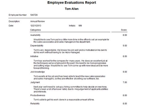 evaluation report sle template employee evaluation report sle 28 images sle employee
