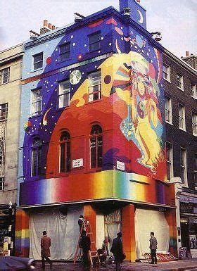 Beatles Wall Mural psychedelic paintings on the apple boutique s wall