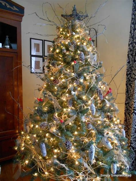 nature inspired christmas tree christmas pinterest