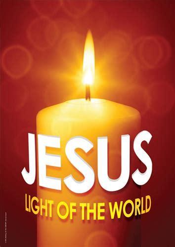 jesus light of the world christmas banners